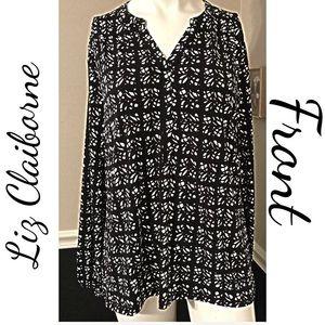 Liz Claiborne Classy Tunic Top Size XL 16
